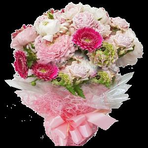 Bouquet fiori rosa per nascita