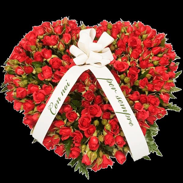 Cuore roselline rosse