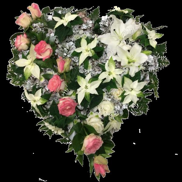 Cuore rose stelle di natale ed ortensia