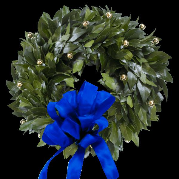 Coroncina alloro fiocco Bluette laurea Statistica