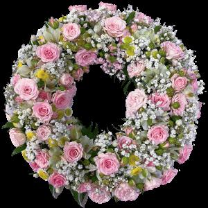 coroncina-funebre-roselline-gissofila