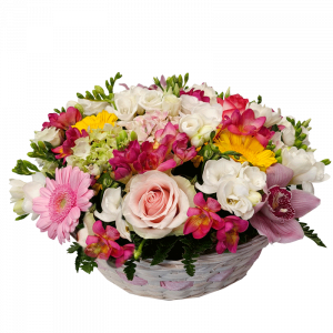 Cestino fiori misti di stagione